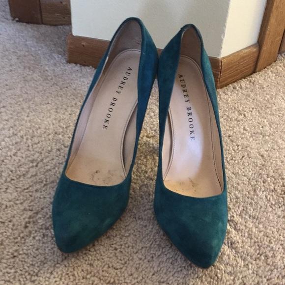 eae898550c2 Audrey Brooke Shoes - Audrey Brooke Darker Teal Pump